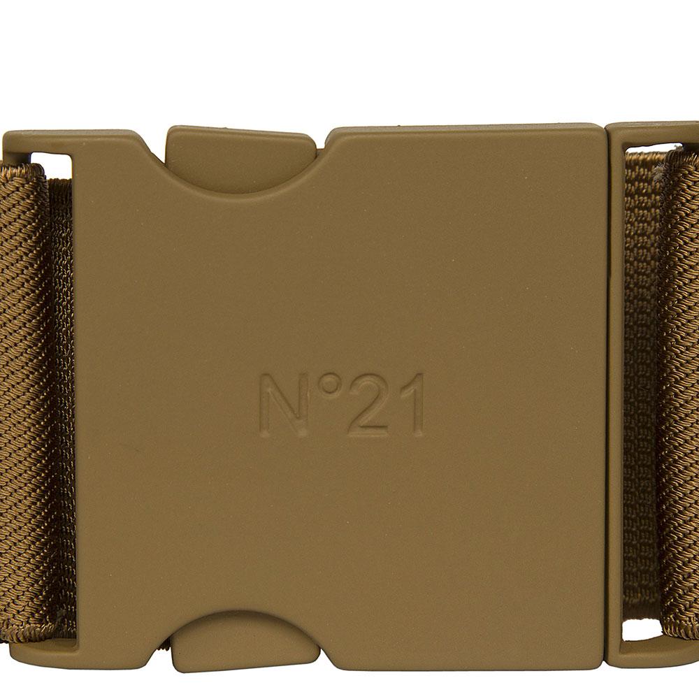Ремень-резинка N21 коричневого цвета