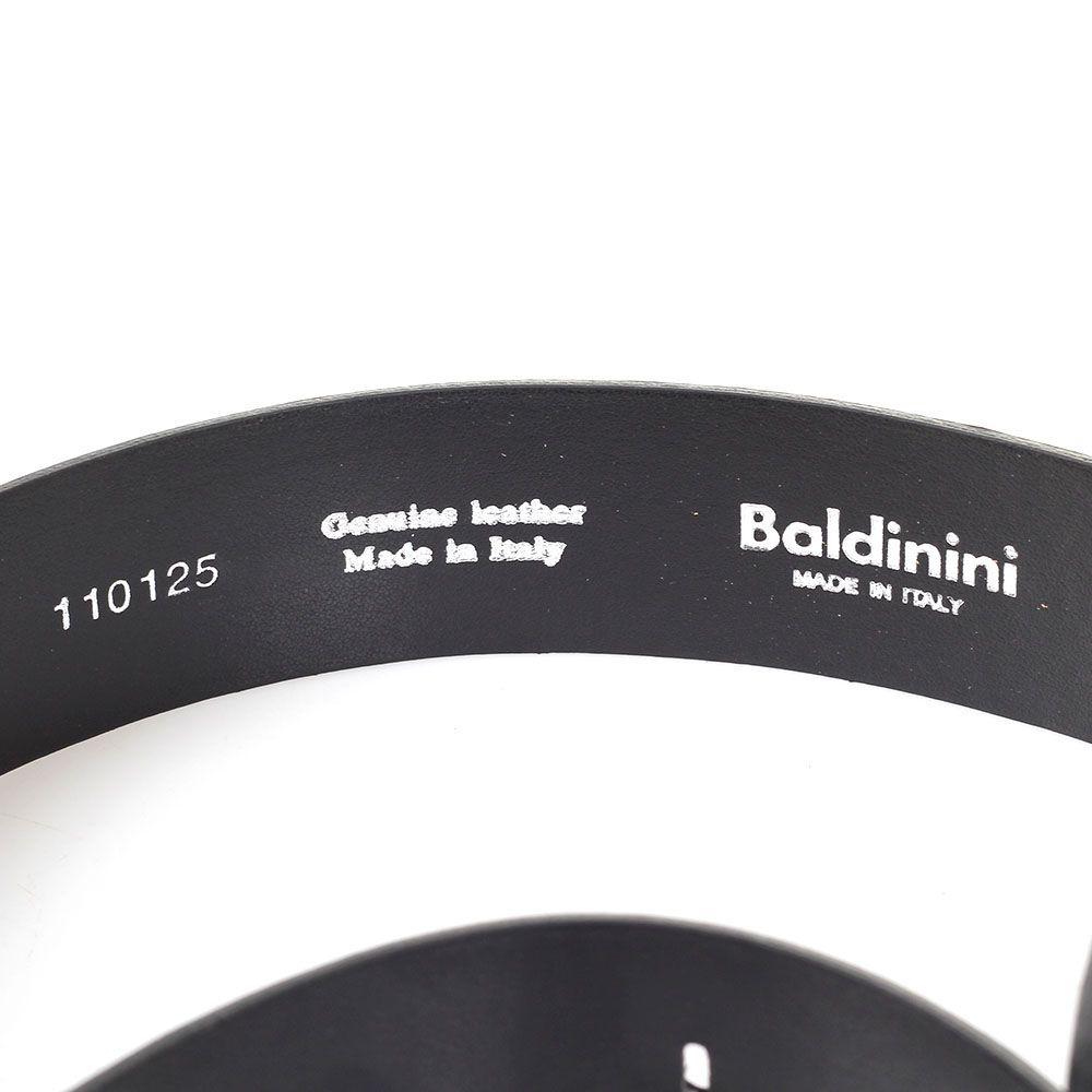 Ремень мужской из зернистой кожи Baldinini черного цвета