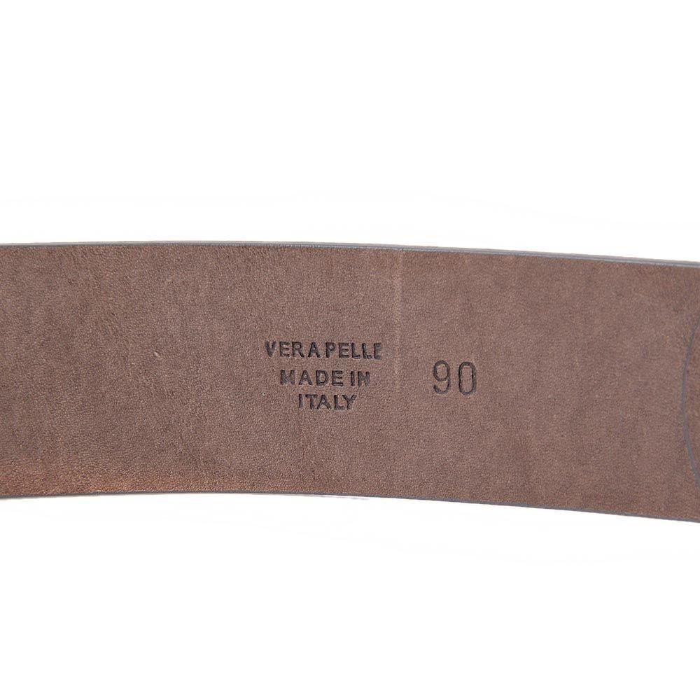 Ремень Maison Martin Margiela Paris серо-коричневого цвета с металлической пряжкой