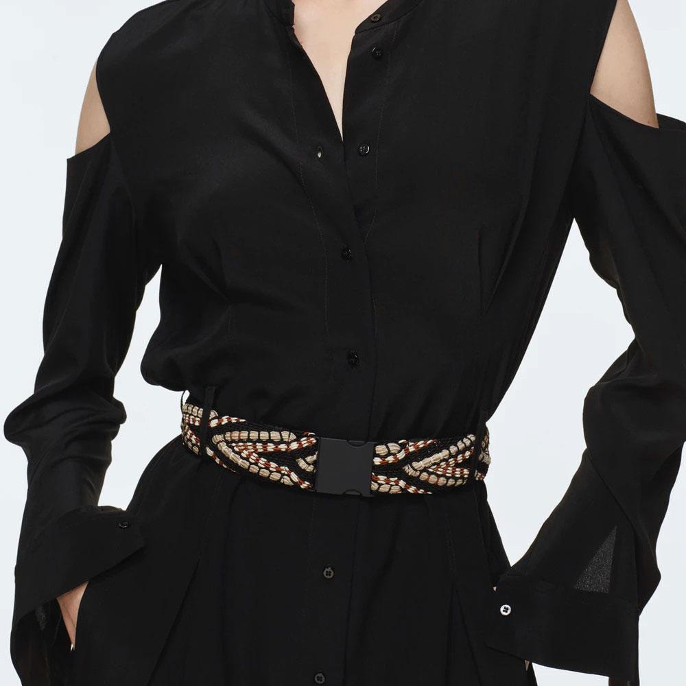 Эластичный пояс Dorothee Schumacher черного цвета