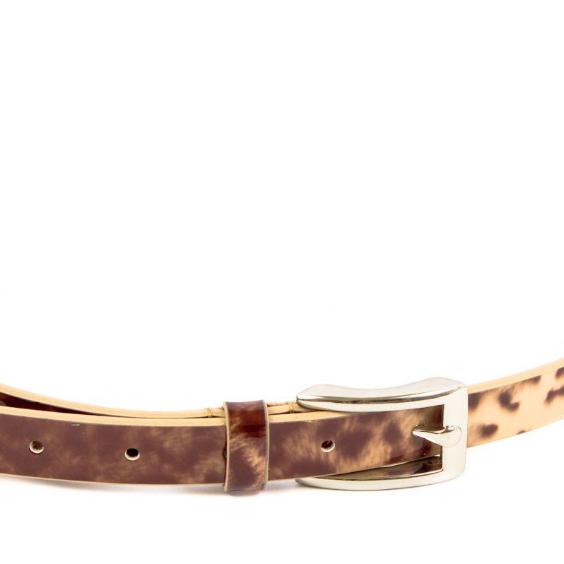 Ремень Eterno женский кожаный леопардовый