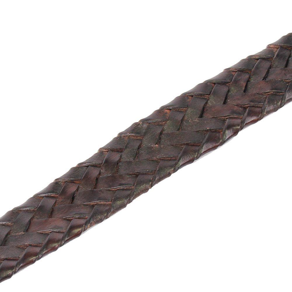 Плетеный женский ремень Andrea D Amico темно-коричневый