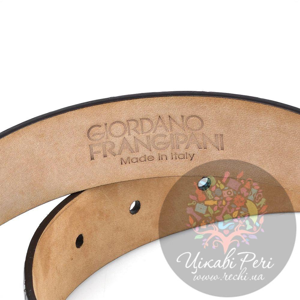 Ремень Gordano Frangipani темно-коричневый лаковый под крокодила