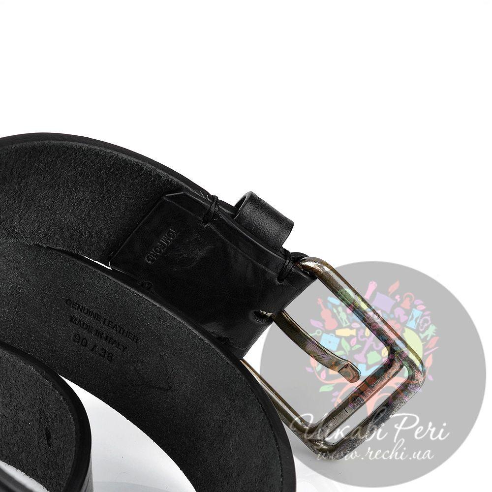 Ремень Tom Ford мужской черный кожаный