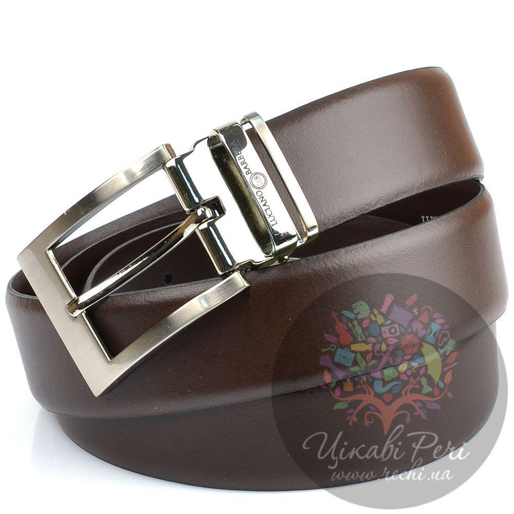 Ремень Luciano Barbera коричневый кожаный с классической пряжкой
