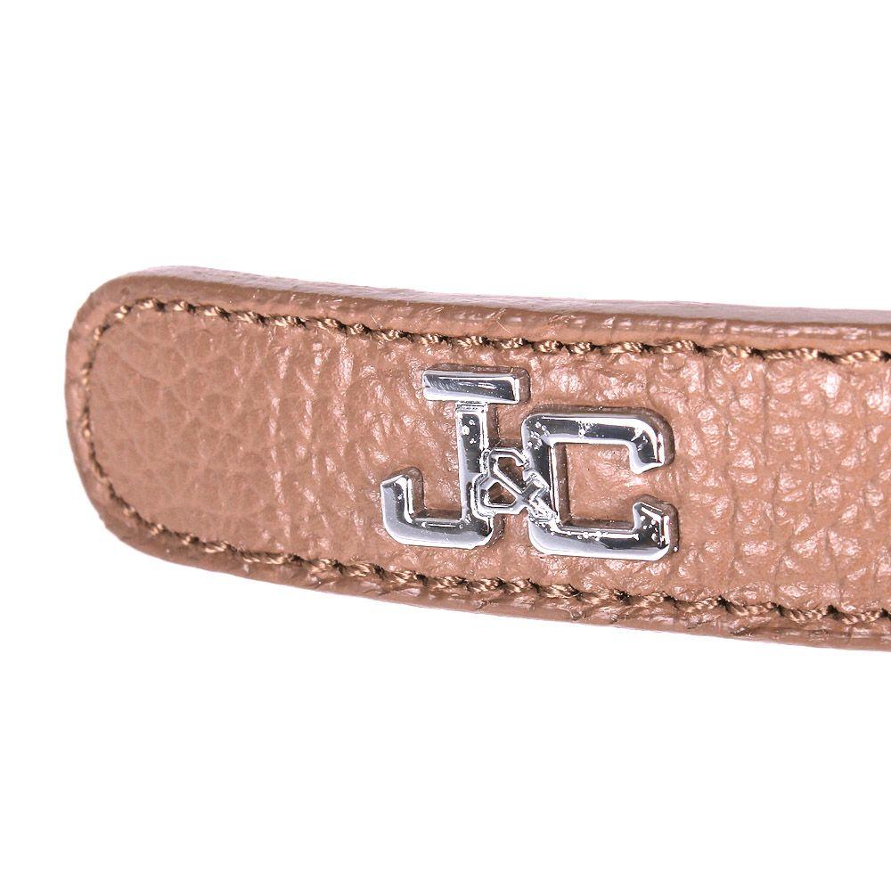 Ремень Jacky Celine коричневого цвета с металлическим логотипом