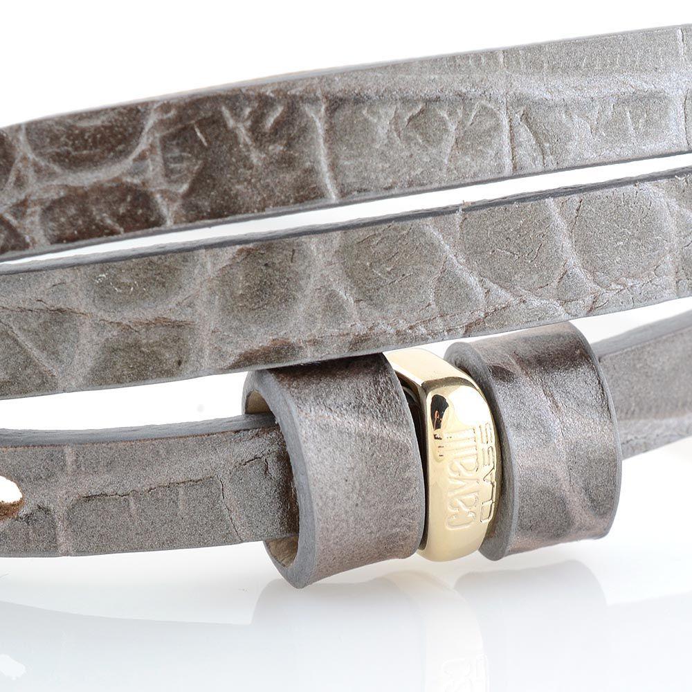 Женский ремень Cavalli Class кожаный узенький бежево-серый лаковый под крокодила с золотой головой леопарда