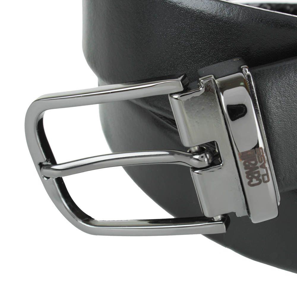 Мужской ремень Cavalli Class черного цвета двусторонний со сменной пряжкой