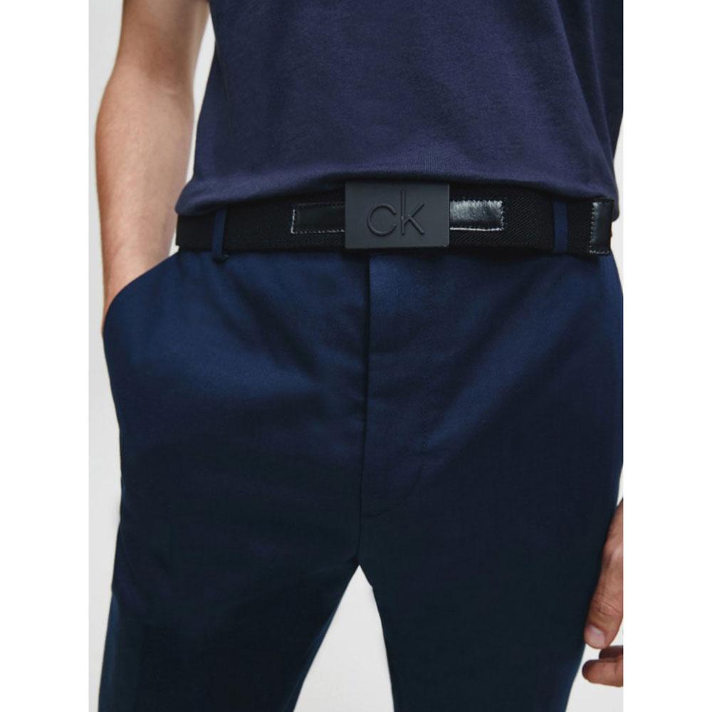 Текстильный ремень Calvin Klein черного цвета