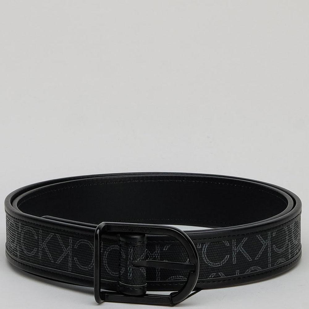 Черный ремень Calvin Klein с принтом