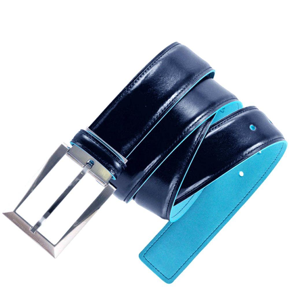 Ремень мужской Piquadro Blue Square синий