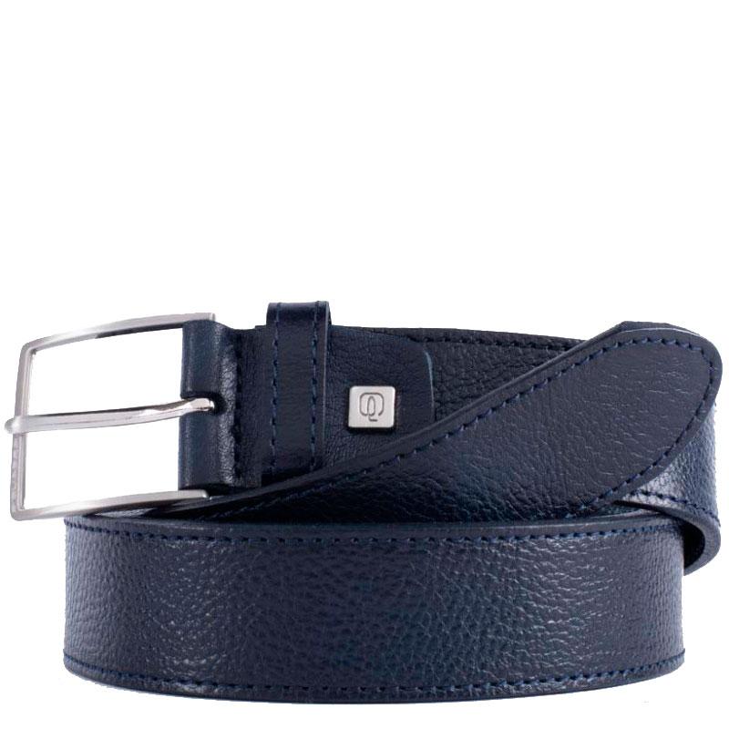 Ремень Piquadro Cintura из кожи синего цвета