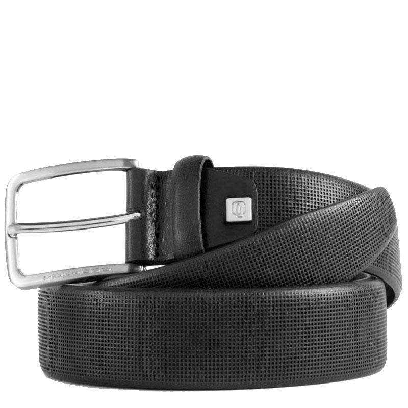 Мужской ремень Piquadro Cintura из черной кожи