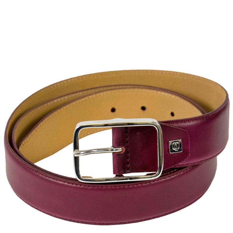 Мужской ремень Piquadro Cintura бордового цвета