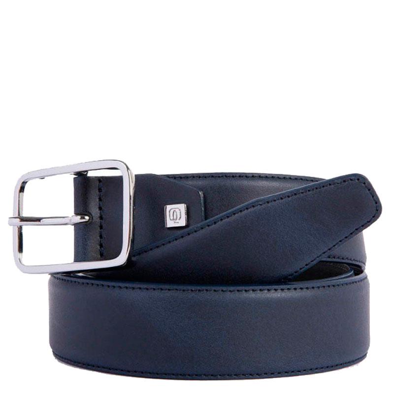Синий ремень Piquadro Cintura из кожи