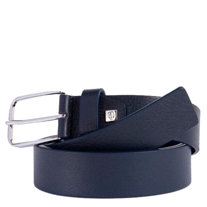 Ремень Piquadro Cintura из натуральной кожи синего цвета