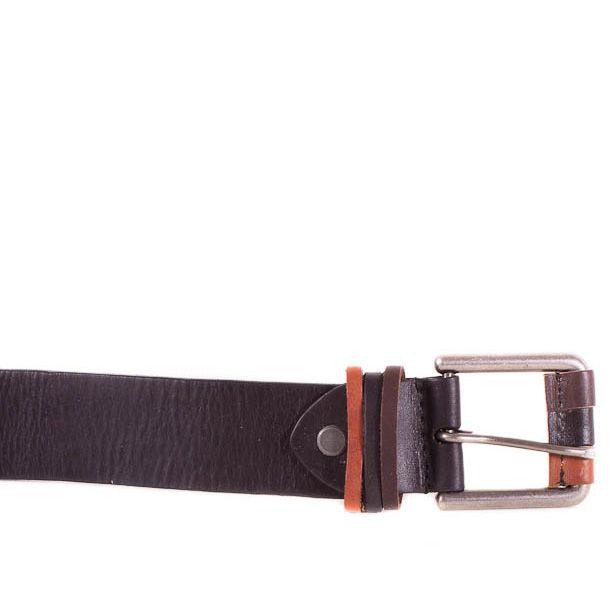 Ремень Eterno женский кожаный черно-коричневый