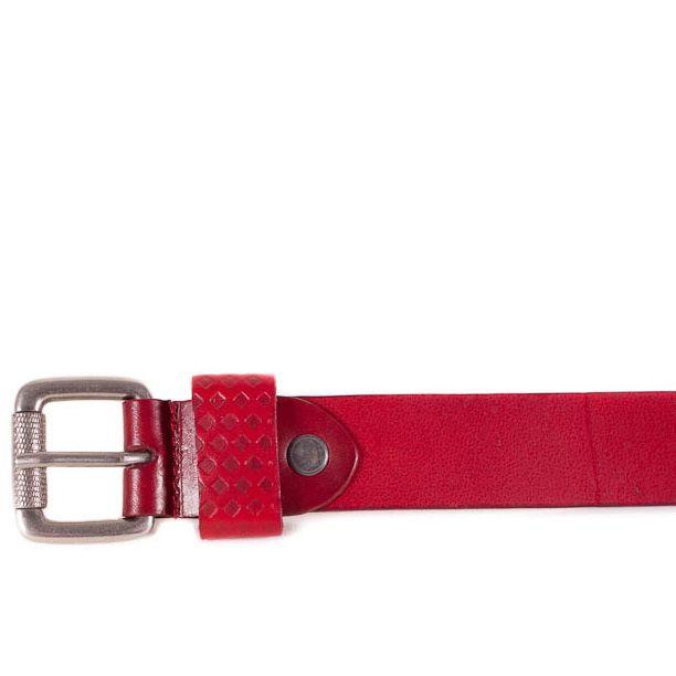 Ремень Eterno женский кожаный красный средней ширины