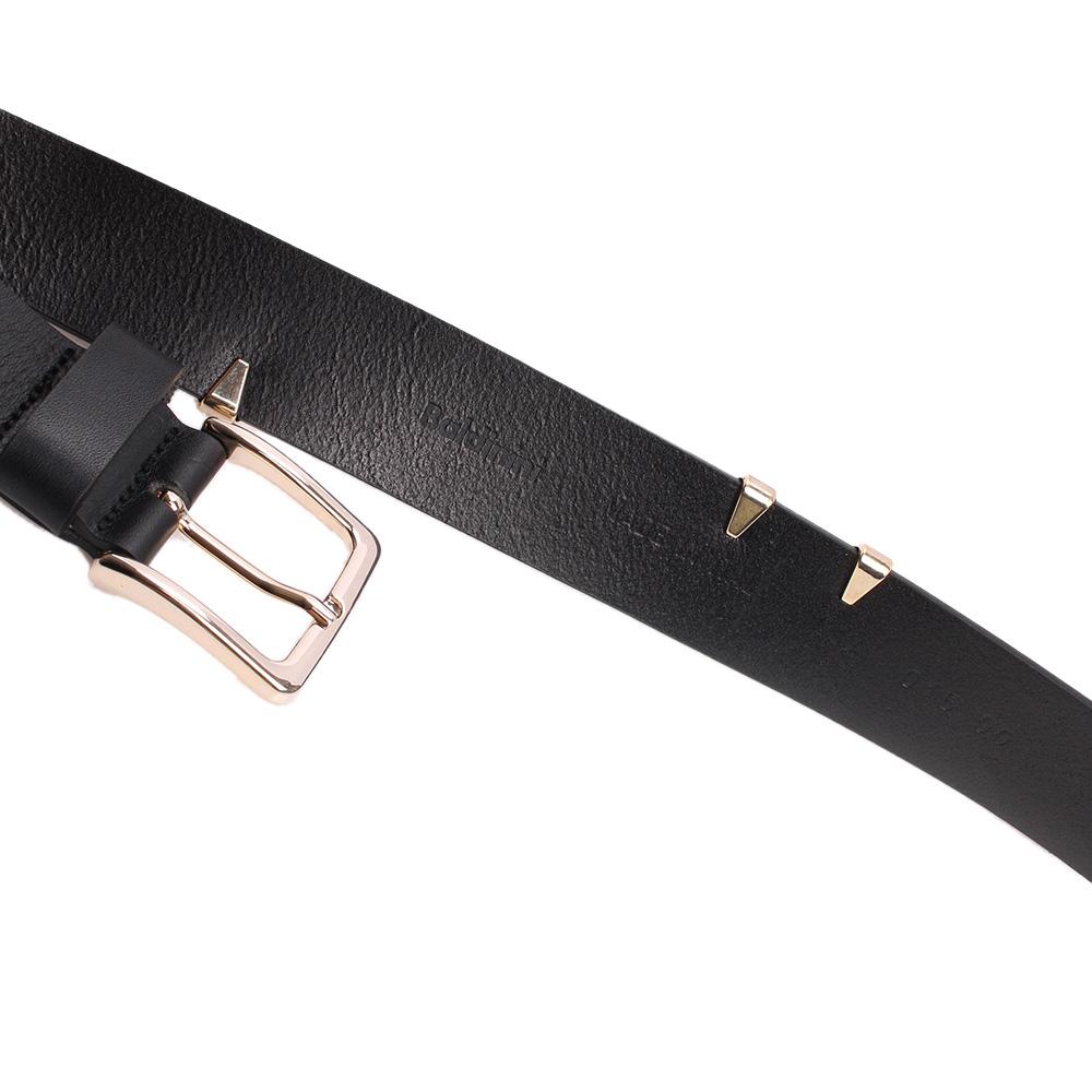 Черный ремень Baldinini с металлическим декором