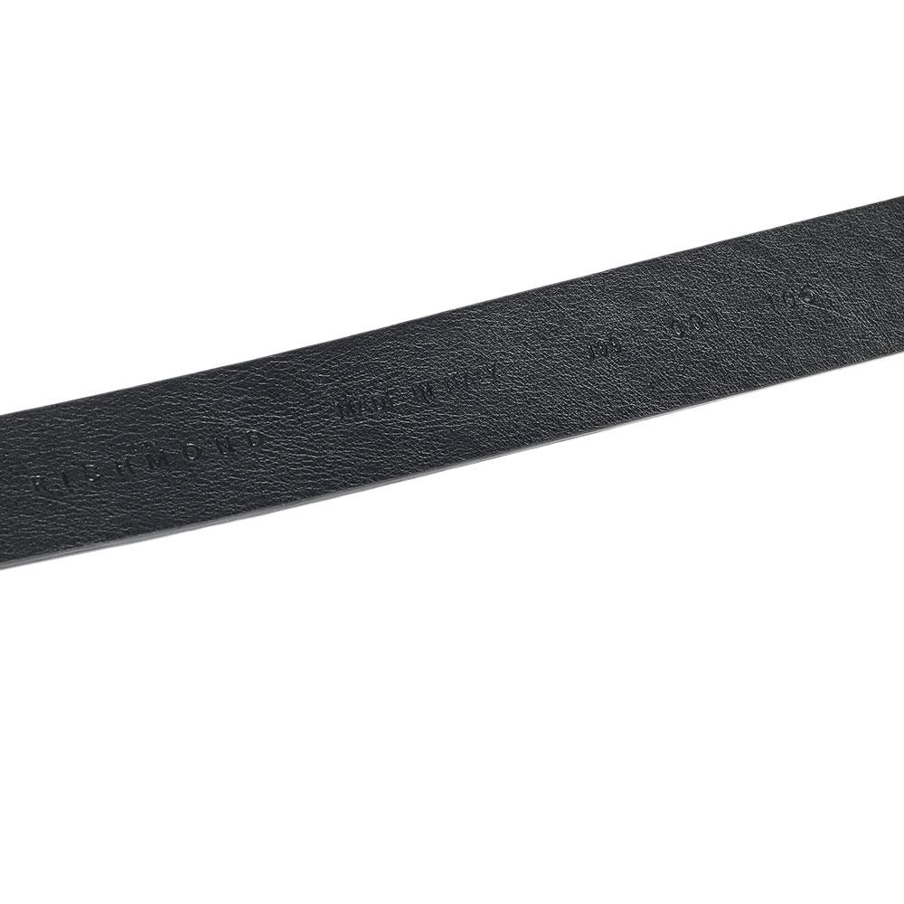 Черный ремень John Richmond из кожи с тиснением
