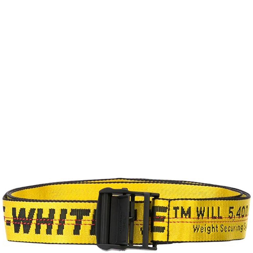 Текстильный ремень Off-White с принтом