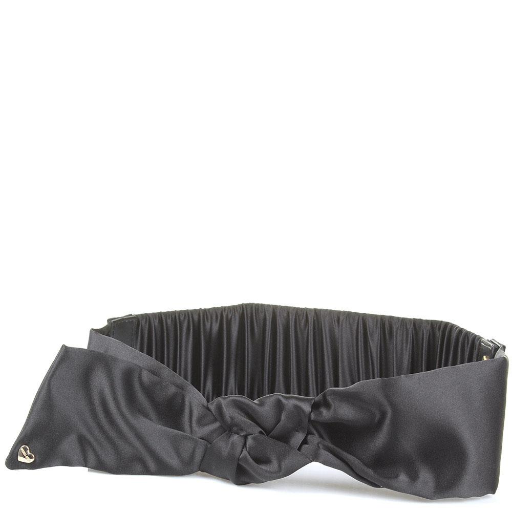 Текстильный женский ремень Twin-Set черного цвета
