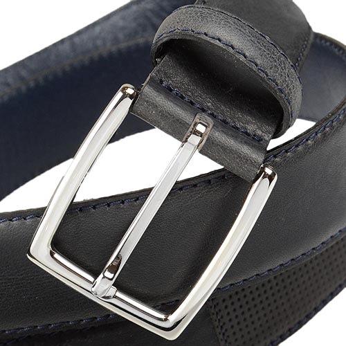 Кожаный ремень Loyd черный мужской классический, фото
