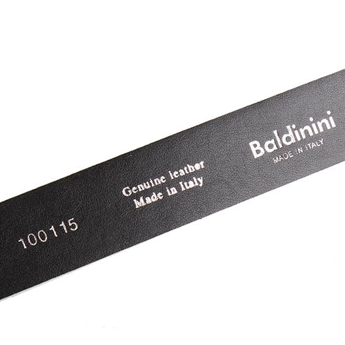 Ремень Baldinini черно-белый с золотистыми блестками, фото