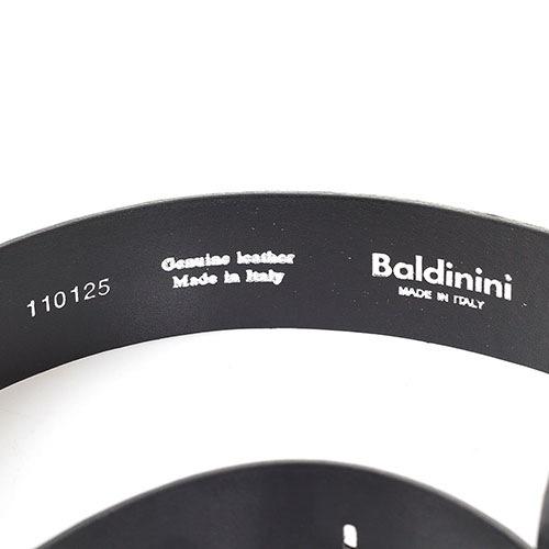 Ремень мужской из зернистой кожи Baldinini черного цвета, фото