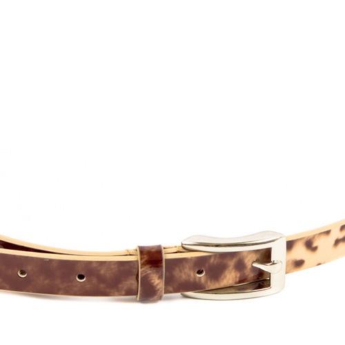 Ремень Eterno женский кожаный леопардовый, фото
