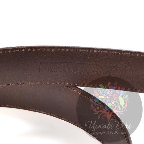 Ремень Andrea D Amico горчичный с роскошной фактурой кожи варана, фото