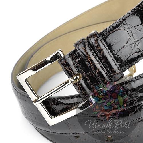 Ремень Orciani мужской темно-коричневый лаковый, фото