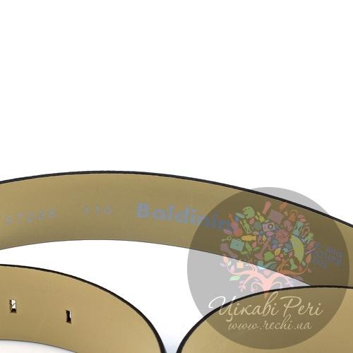 Ремень Baldinini мужской черный с роскошной имитацией кожи варана, фото