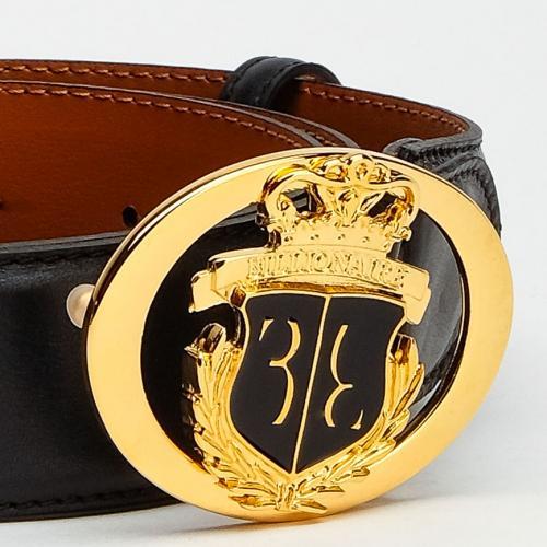 Мужской ремень Billionaire черного цвета, фото