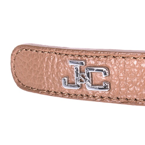 Ремень Jacky Celine коричневого цвета с металлическим логотипом, фото