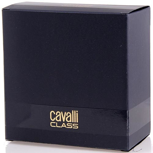 Ремень мужской Cavalli Class кожаный черного цвета со вставкой из лаковой кожи возле пряжки, фото