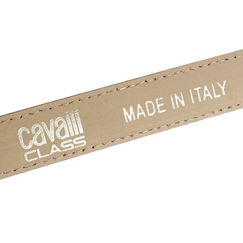 Ремень Cavalli Class с леопардовым принтом и фактурой под мех, фото