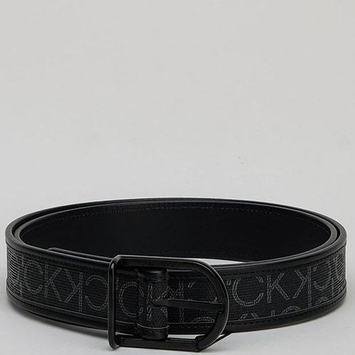 Черный ремень Calvin Klein с принтом, фото
