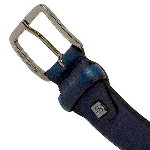 Ремень Piquadro Black Square из кожи синий, фото