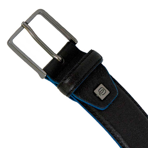 Мужской ремень Piquadro Blue Square черного цвета, фото