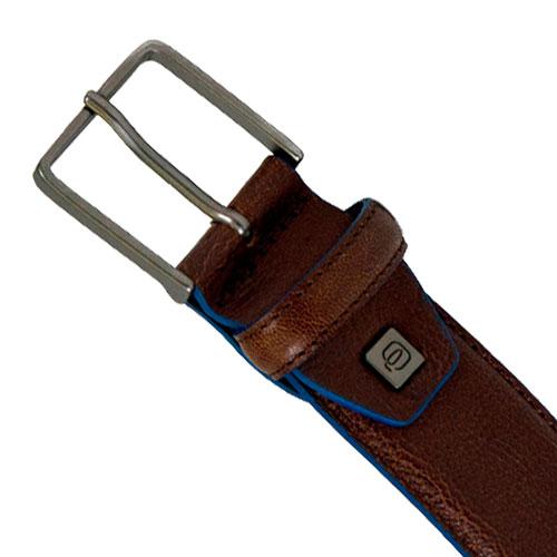 Мужской ремень Piquadro Blue Square коричневого цвета, фото