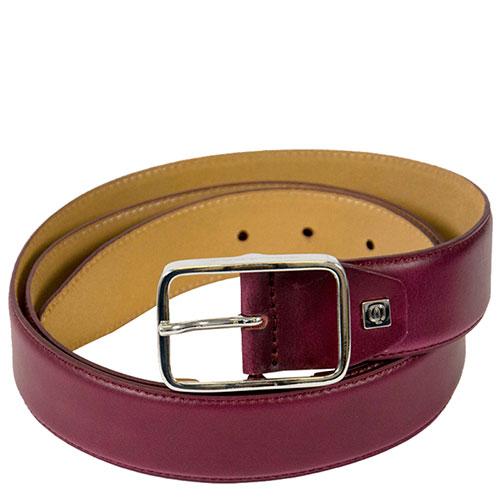 Мужской ремень Piquadro Cintura бордового цвета, фото