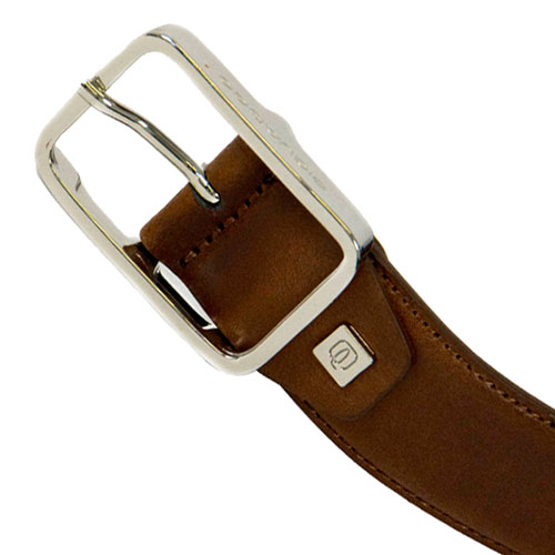 Ремень Piquadro Cintura из коричневой кожи, фото