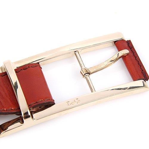 Женский кожаный ремень Dolce & Gabbana красно-рыжего цвета, фото