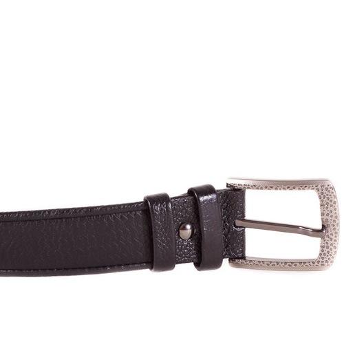 Ремень Eterno кожаный темно-коричневый с фактурой плетения, фото