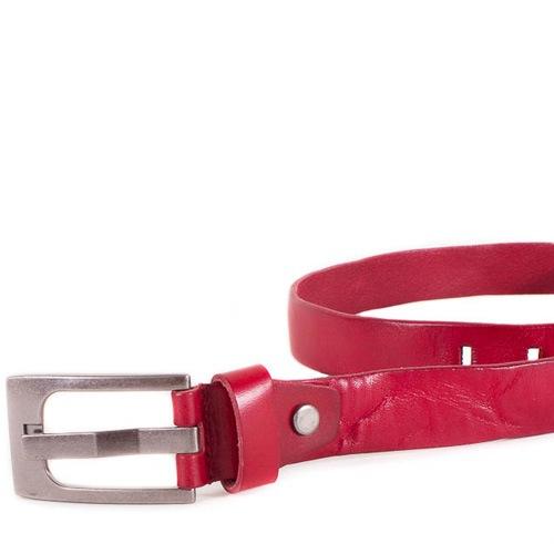 Ремень Eterno женский кожаный красный классический, фото