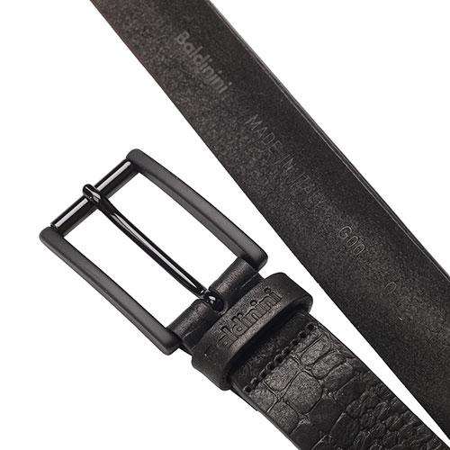 Черный ремень Baldinini с тиснением, фото