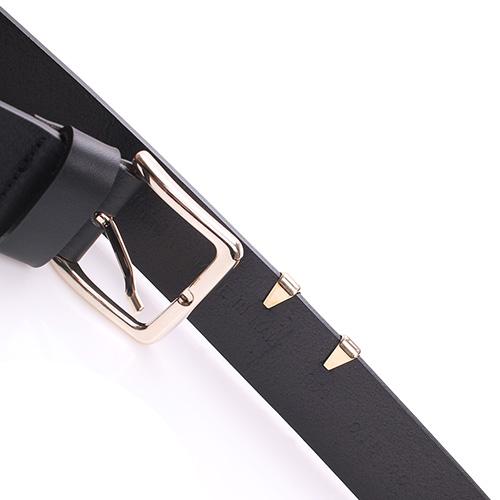 Черный ремень Baldinini с металлическим декором, фото