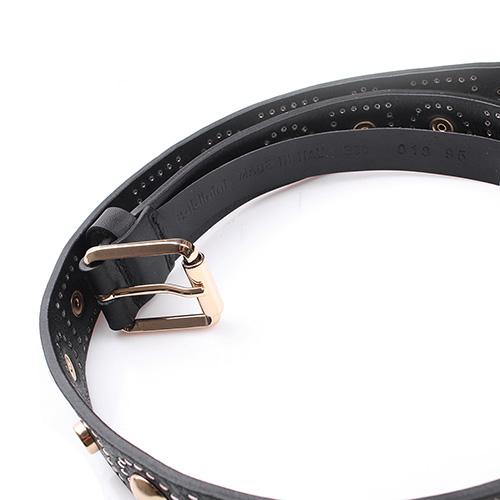 Черный ремень Baldinini с декором-заклепками, фото