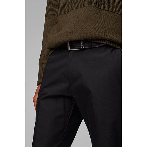 Ремень из кожи Hugo Boss со сменной пряжкой, фото